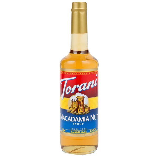 Macadamia Nut Syrup From Torani (25.4 Oz 750 Ml)