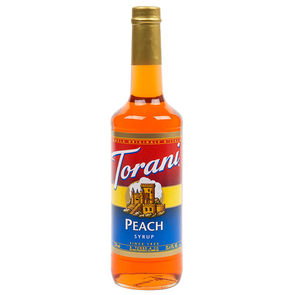Peach Syrup From Torani (25.4 Oz 750 Ml)