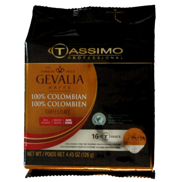 100% Colombian Tassimo T-Discs From Gevalia