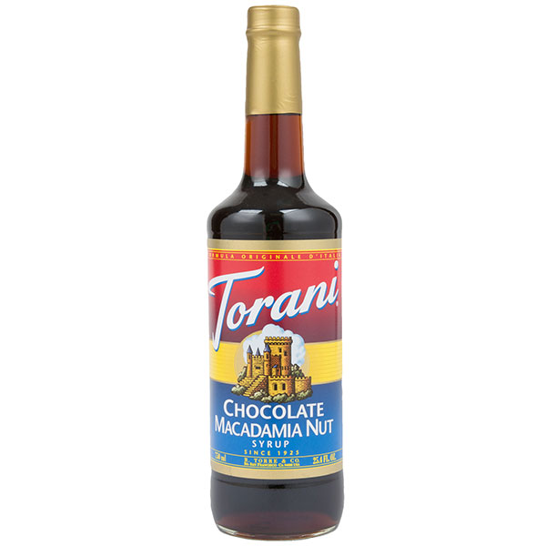 Chocolate Macadamia Nut Syrup From Torani (25.4 Oz 750 Ml)