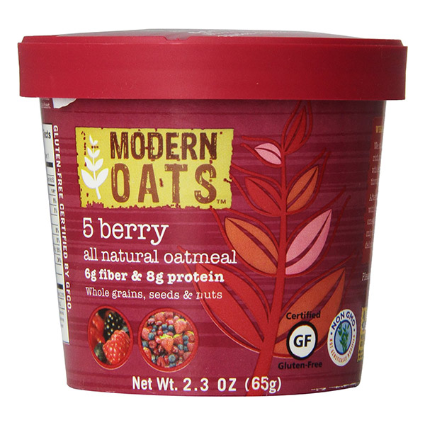 5 Berry Instant Oats From Modern Oats