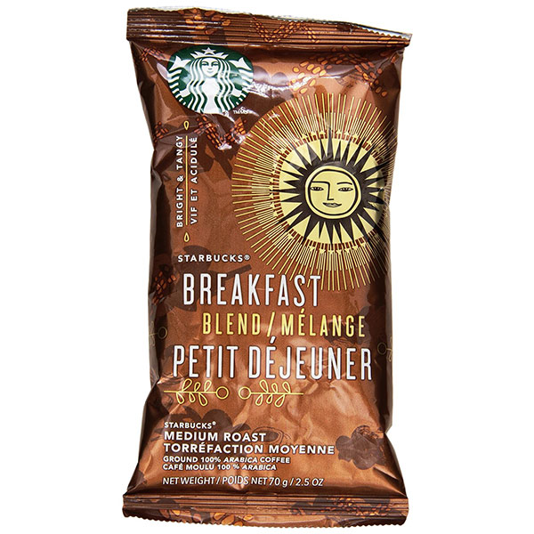 Breakfast Blend 2.5 Oz Ground, Drip Coffee From Starbucks