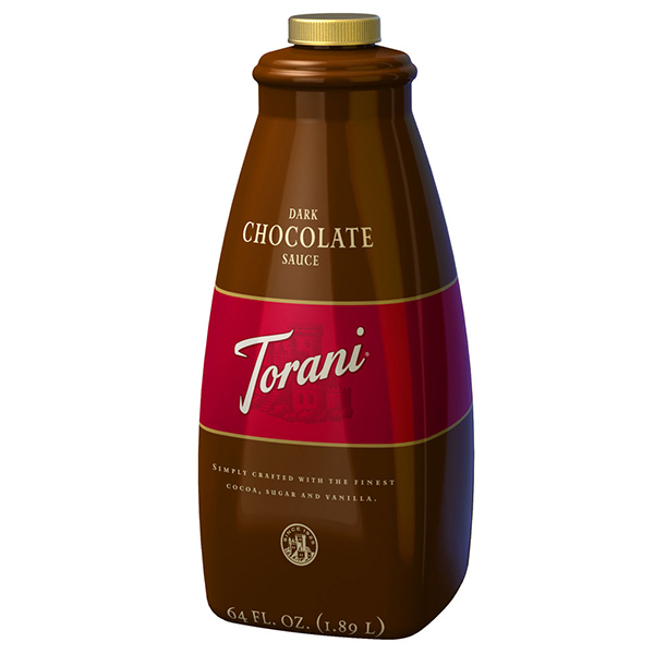 Dark Chocolate Sauce From Torani (64 Oz)
