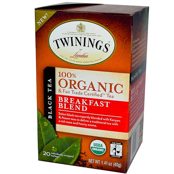 Breakfast Blend Organic Tea From Twinings