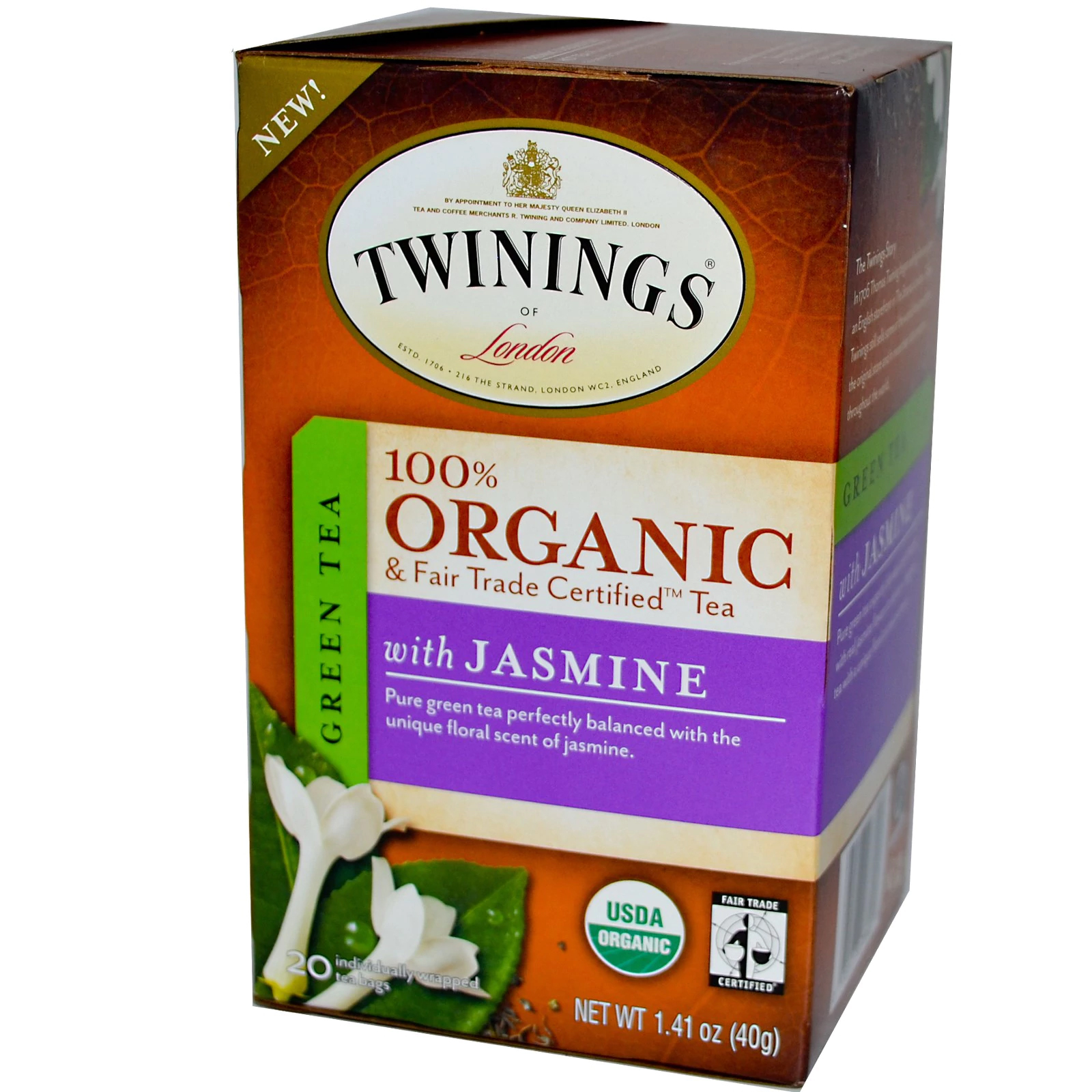 Jasmine Green Organic Tea From Twinings