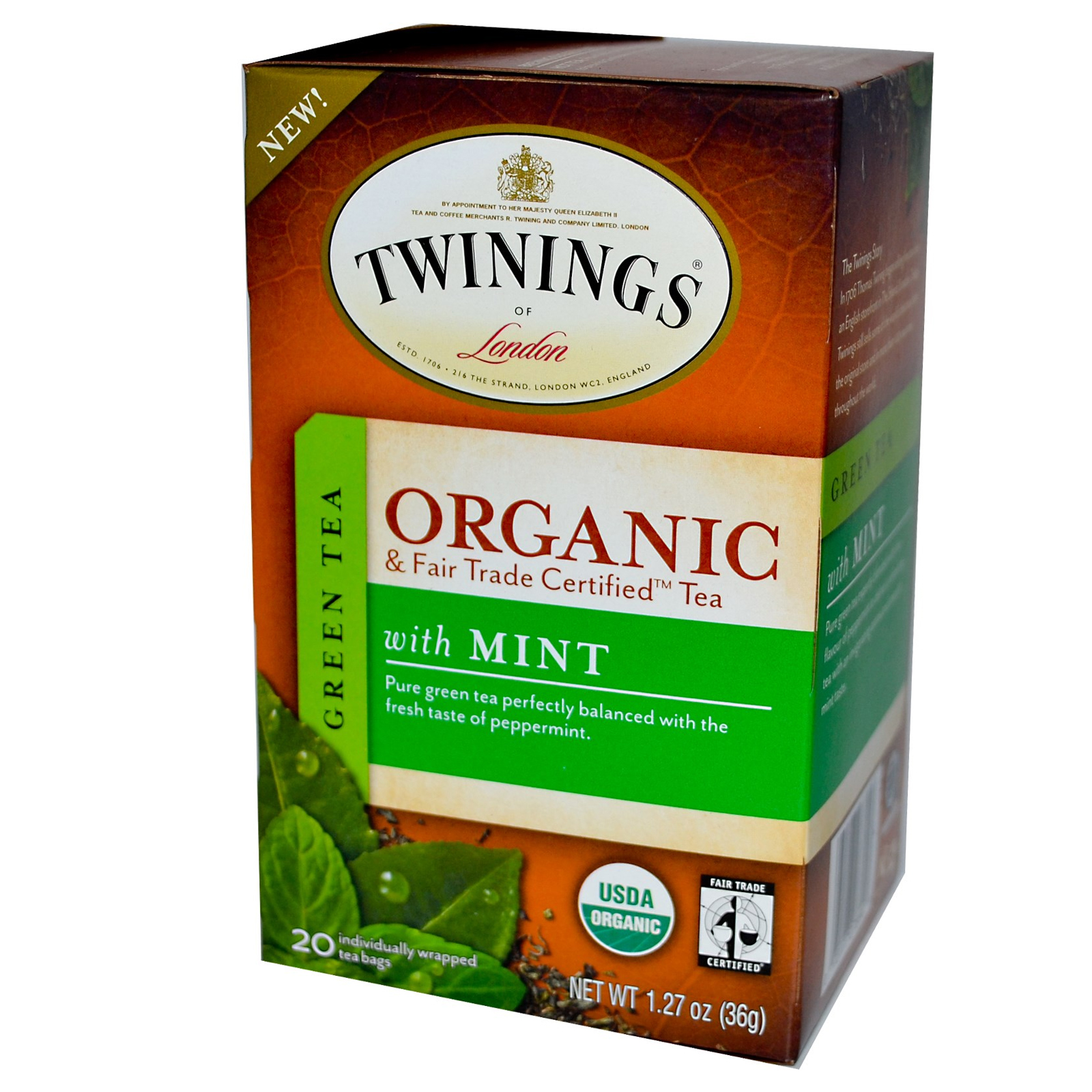 Mint Green Organic Tea From Twinings