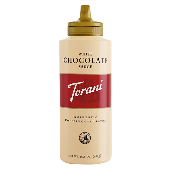 White Chocolate Sauce From Torani (16.5 Oz Squeeze Bottle)